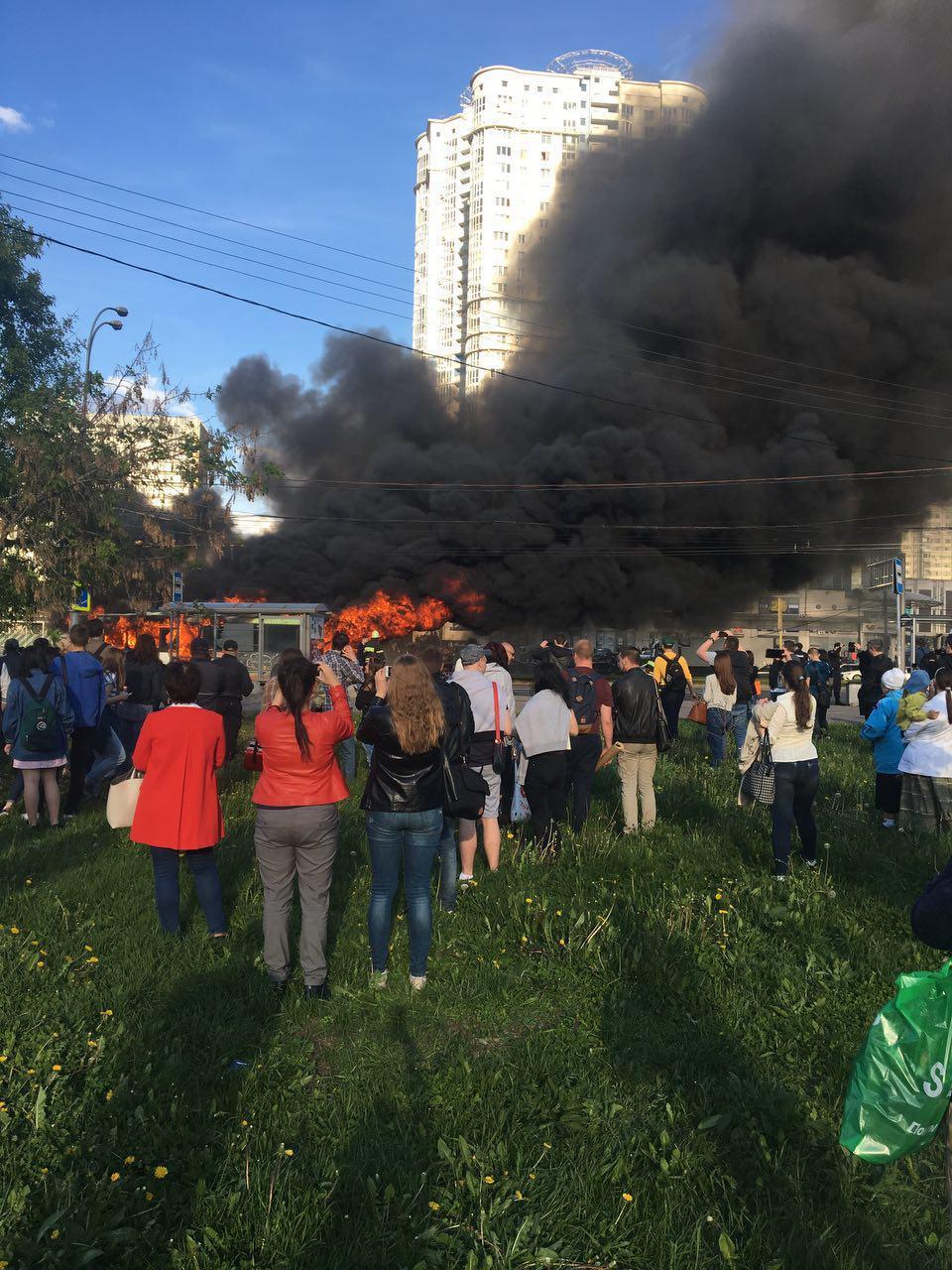 На Юго-Западе Москвы взорвался автобус