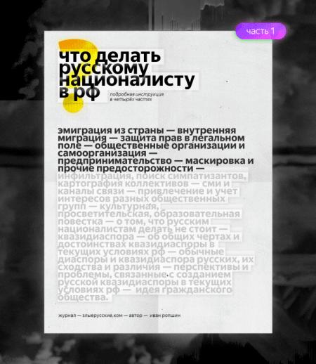 Что делать русским националистам в РФ? Часть первая.