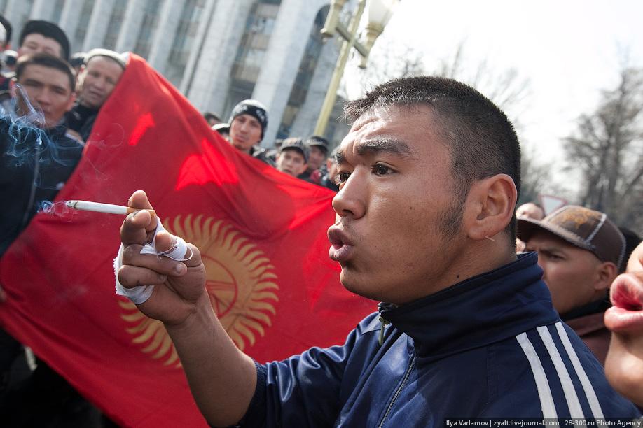 Русская деревня становится киргизской