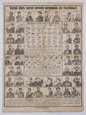 Жестовая азбука начала 20-го века